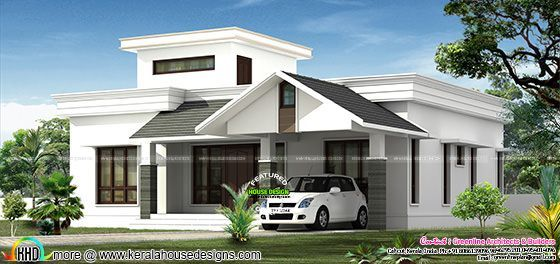 Low budjet single floor house design two side views – 1500 Sq Ft Single Floor House Plans
