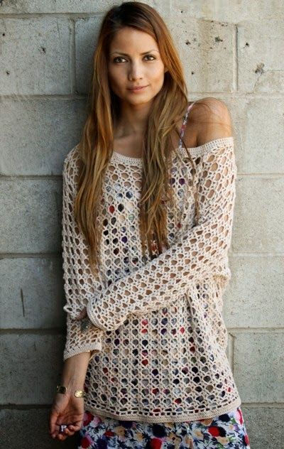 8cb42b056f92 How to Crochet Your Own Heirloom Boho Sweater - Free Chart Based ...