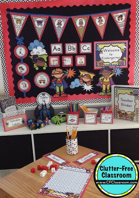 Classroom Decoration Free Download ~ Superheroes themed classroom ideas printable