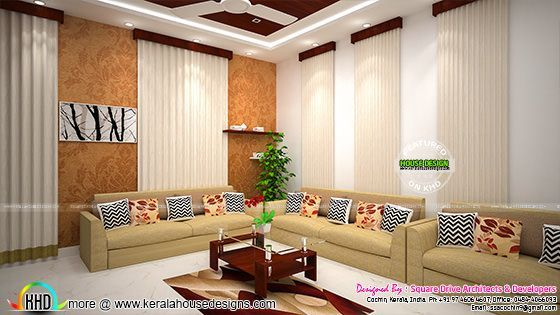 Interior Designs Of Foyer Living And Dining Room Interiors By Square Drive Architects Developers Cochin Kerala