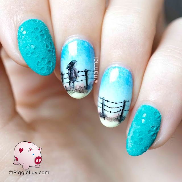 Pensive Sunset Nail Art Glow In The Dark Piggieluv Bloglovin