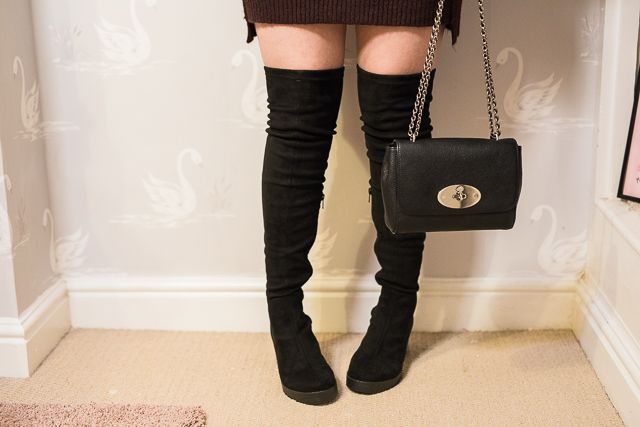 3d25d6a4a Dress - River Island Boots - River Island  Bag - Mulberry Lily Necklace -  Zara Taylor I m a bit late to the  over the knee boots  party.