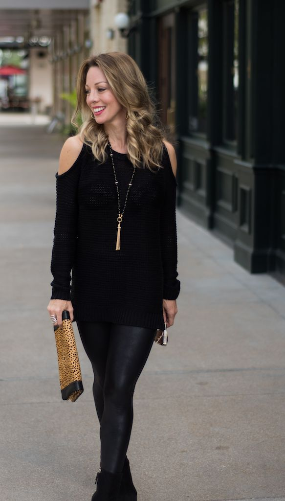 dd7f1984344716 But not just any faux leather leggings, these are by Spanx and we all know  how I'm a fan of those!