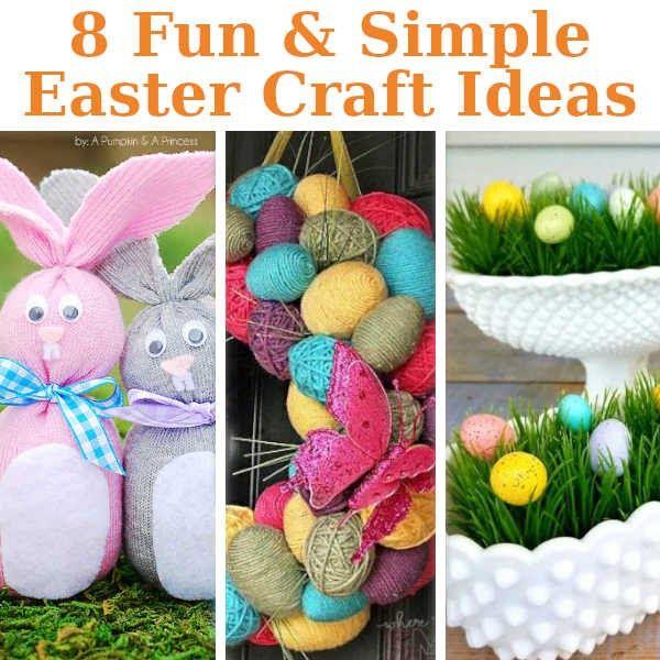 8 Fun Simple Easter Crafts Diy Home Sweet Home Bloglovin