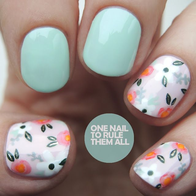 Vintage Orly Flowers | One Nail To Rule Them All | Bloglovin\'