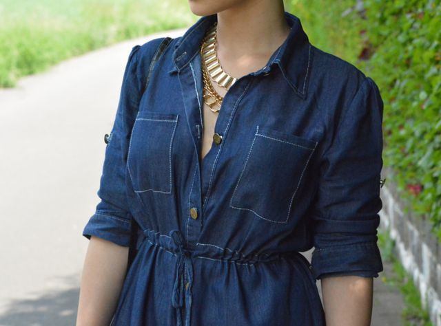 ade479de9fa Outfit 183 - Denim Shirt Dress