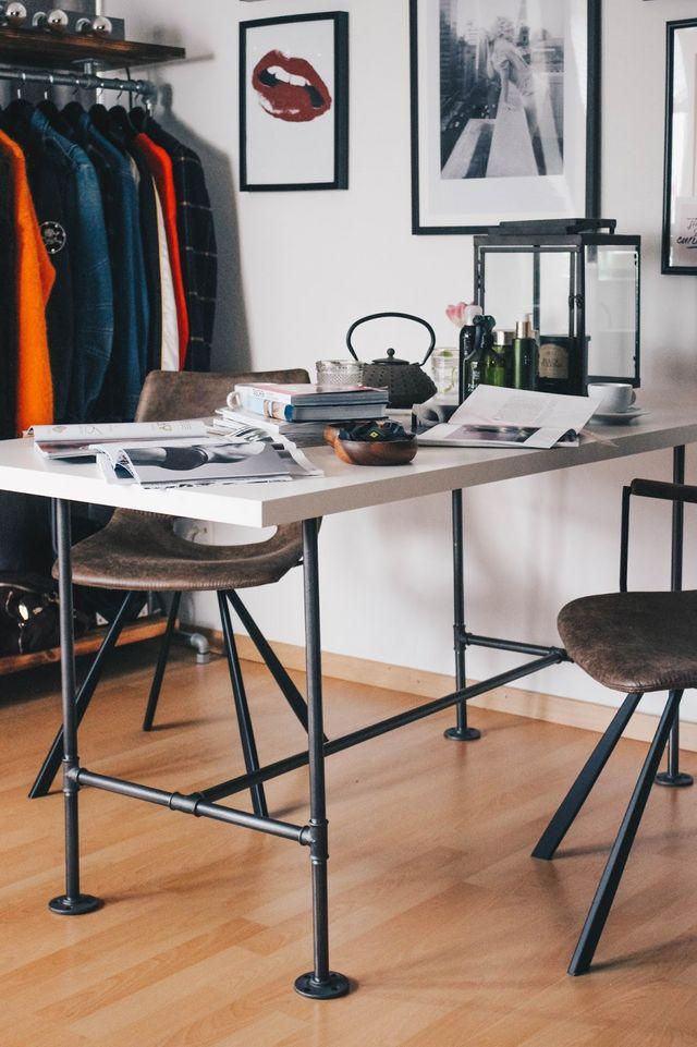 Various Design Unser Tischgestell Aus Industriellem Stahlrohr