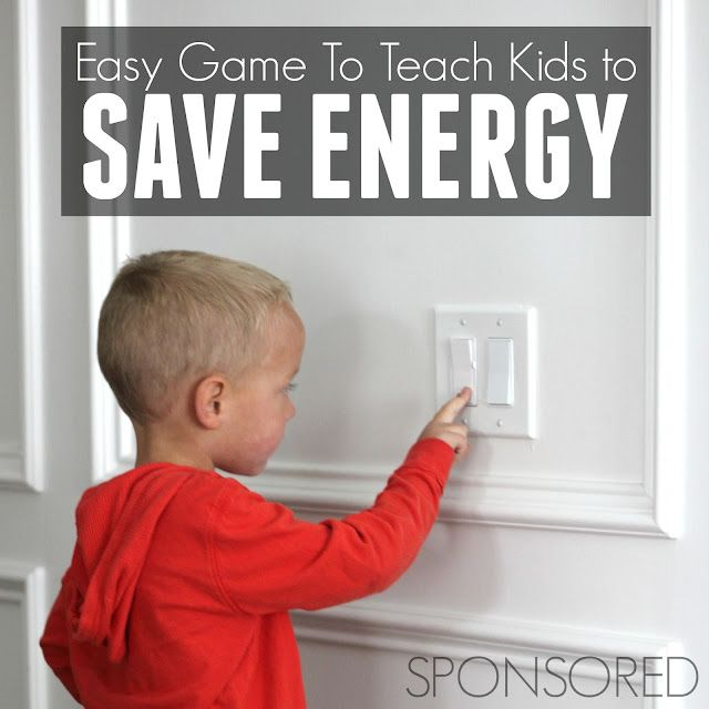 focusing on simple and practical ways to conserve energy is a great way to help kids establish good habits at an early age