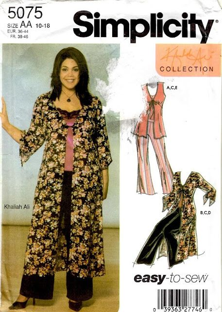 Simplicity 5075 A Duster From Elliot Berman Fabric