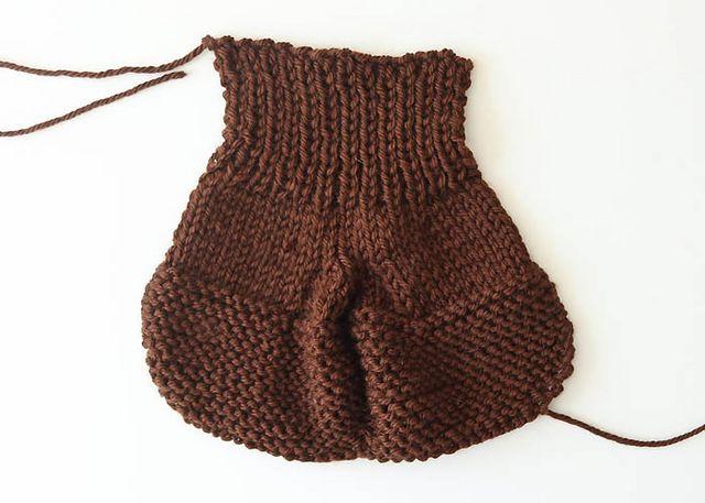 Easy Pumpkin Baby Toddler Booties Free Knitting Pattern Gina