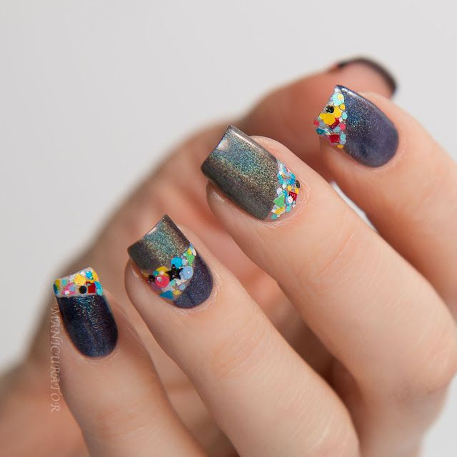 Kbshimmer winter color block nail art manicurator bloglovin everything i created with this collection can be seen if you clicky these linkys glitter triangle moons galaxy nails easy color block accent nail prinsesfo Image collections
