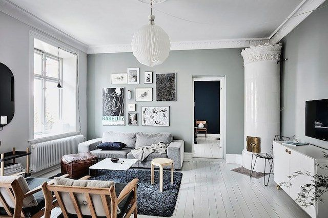 Calm blue green tones in a swedish home my scandinavian home bloglovin - Idee decoration interieure ...