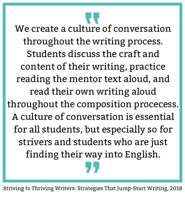 From Striving to Thriving Writers | I Teach  What's Your