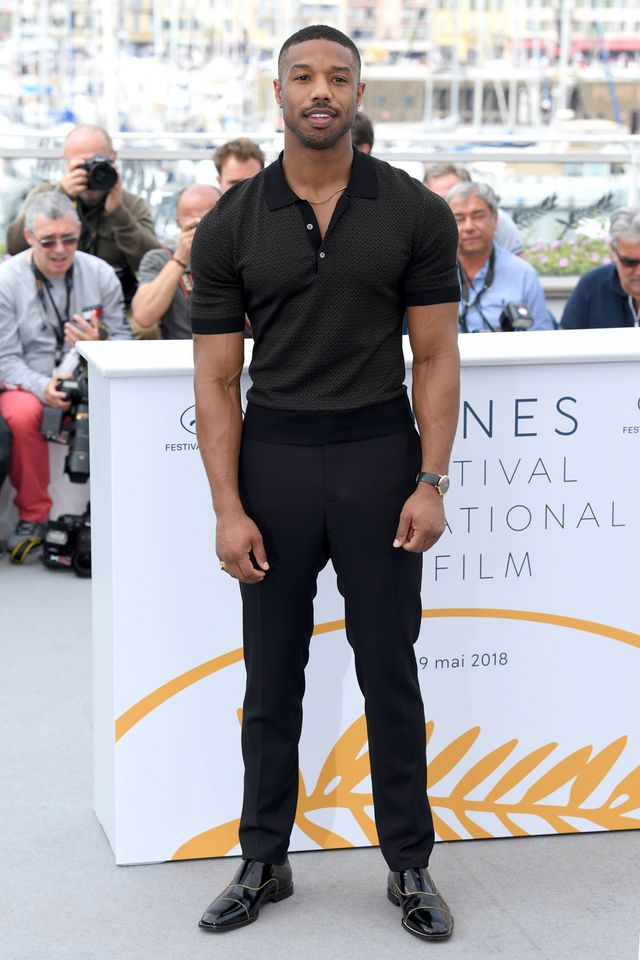 "41dffe8e9c3ab7 Cannes 2018  Michael B. Jordan Flexing at the ""Fahrenheit 451"" Photocall is  Everything You Need"