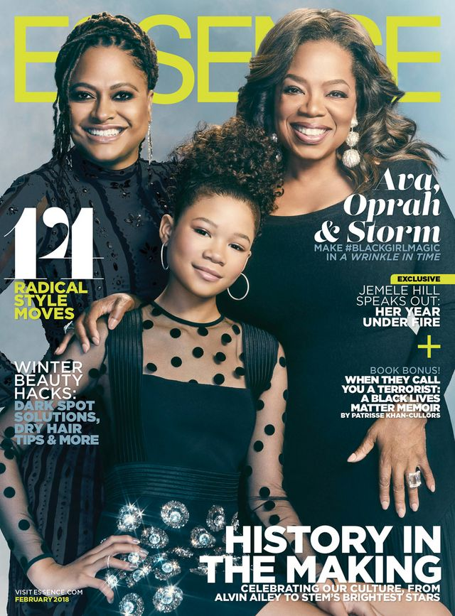 oprah winfrey ava duvernay and storm reid cover the february issue of essence magazine
