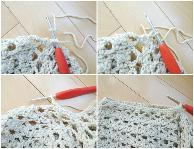 ba8d8bd02f94 I decided to add a beautiful and delicate picot edging along the bottom of  the cardigan as I did in my Boho Crochet Wrap design.