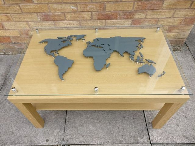 Popular Ikea Coffee Table Takes On The World Map Ikea