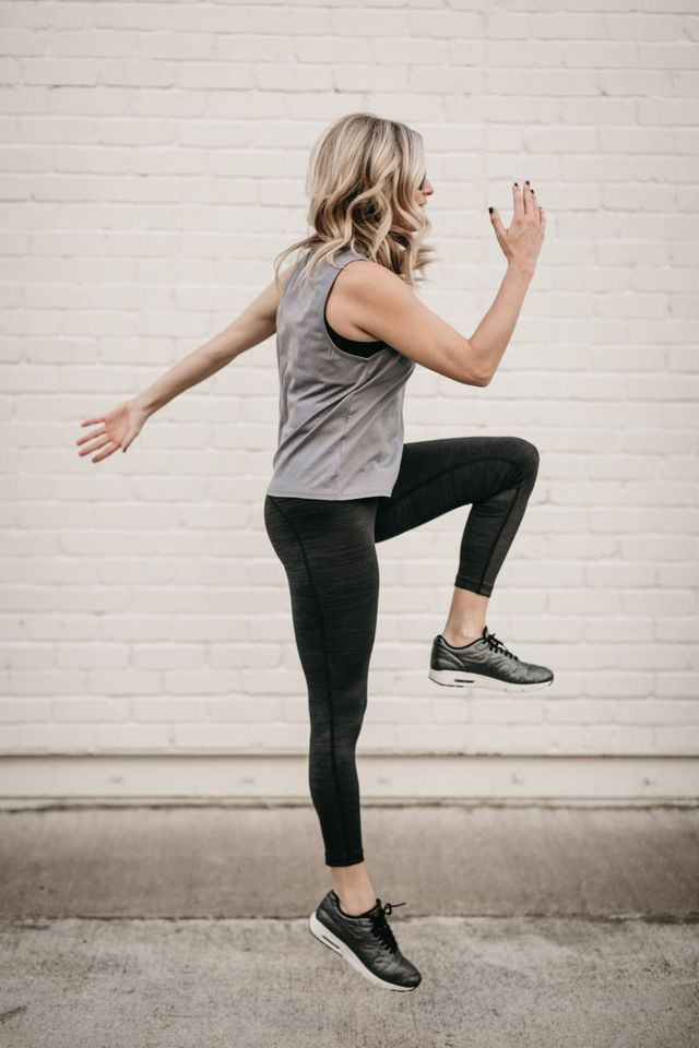 cc6f4e56cec8a My favorite workout tank is from Outdoor Voices because their fabric is so  comfortable. Also, I love their compression tights which keep my bell  looking ...