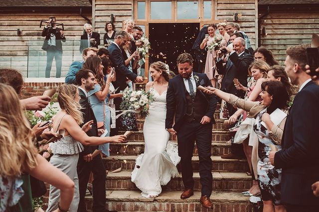 d78f0a254ae Emma and Joe s joyful Brookfield Barn wedding is just brimming with rustic  details you can recreate for your own big day – the  memory lane  polaroid  crate ...