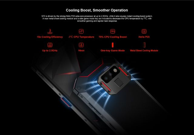 The DOOGEE S70 is The World's First Rugged Gaming Smartphone