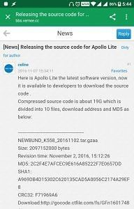 Vernee Releases Complete Source Code for MediaTek X20-based Apollo