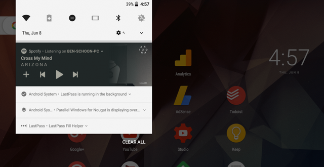 How to Hide the Persistent Notification for Background Apps