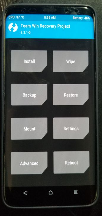 Unofficial TWRP now available for Snapdragon Samsung Galaxy S9