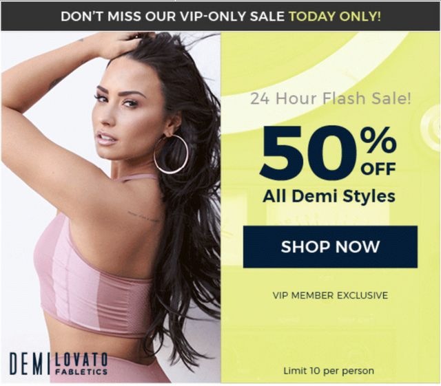 4056e2390c07aa Today Only! Fabletics Sale – 50% Off Demi Lovato Collection! | My ...