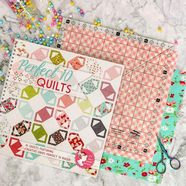 Perfect 10 Sampler Quilt Along Week 1 Fat Quarter Shop S Jolly