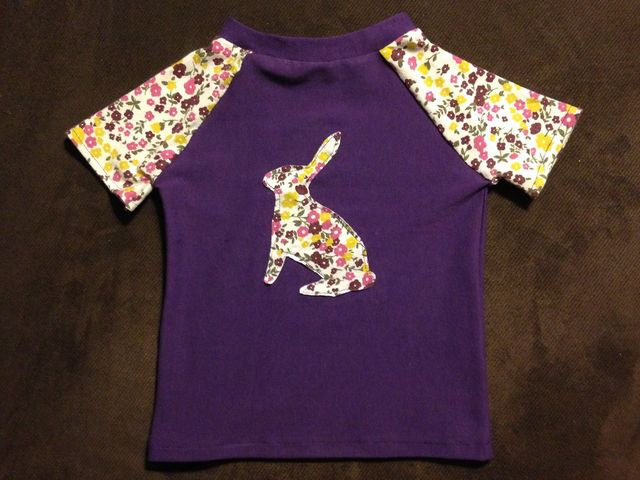 a7b8877cc Laurel (aka Dart & Gather) made this adorable appliquéd rabbit tee using  scraps from old maternity clothes, as well as the Oliver S layette set and  ...