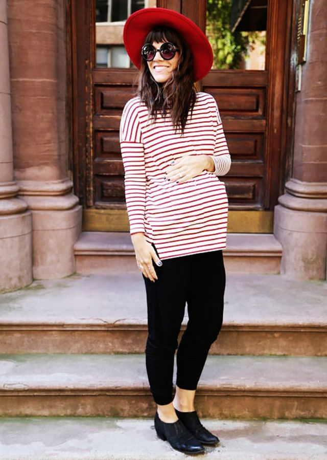 1e03f54d48695 Go on to shop the eight pregnancy outfits found on some of the most stylish  bloggers. Up next, find out how to style leggings when you're not in your  20s ...