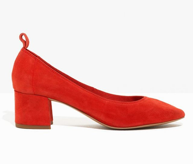 2613d77e76f3 ... the solution lies in cute midi-heeled block pumps. Glove shoes like  Maria Alia s (worn here with socks) are the perfect