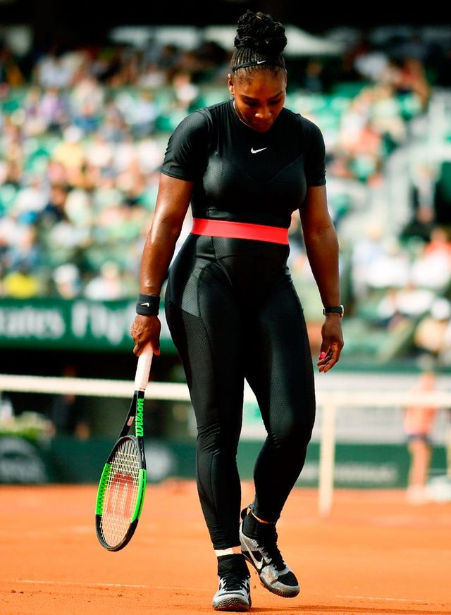 a850f265c65 Serena Williams Just Made Her Comeback in a Symbolic Nike Catsuit ...