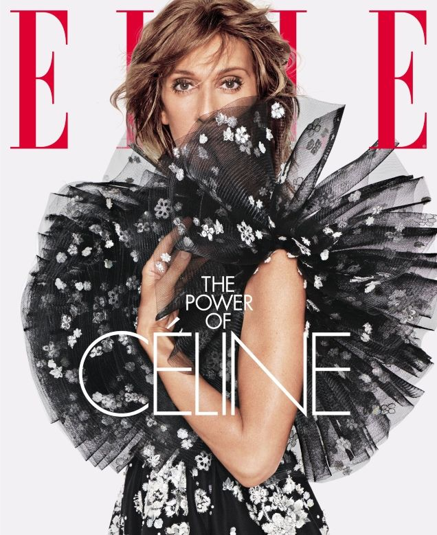 eff4e6d1056d Céline Dion Plays Peekaboo in Valentino on ELLE's Disappointing June 2019  Cover
