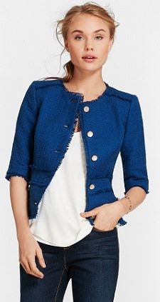 a97b83a7976 This shrunken tweedy jacket from Red Fleece looks fabulous — even with the  minor hesitation that elbow sleeves can feel hard to style.