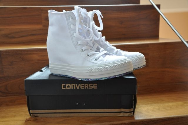 new in - Converse Wedge White Trainers  4138583f4c