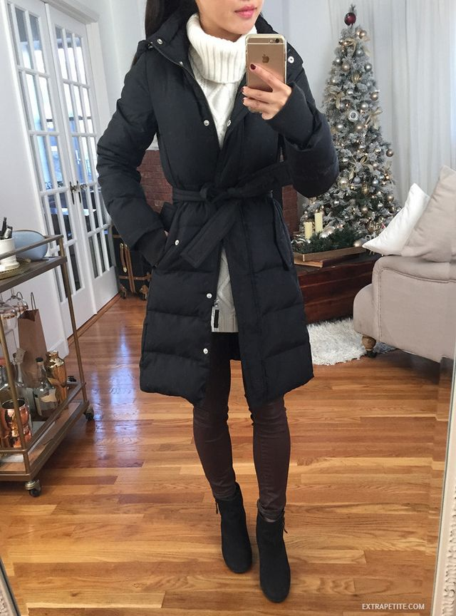 ee5b350b91a Little red (bow back) riding hood    J.Crew Factory puffer review ...