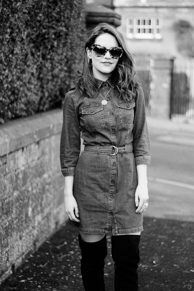 1f4544bb THAT' denim shirt dress | The Little Magpie | Bloglovin'