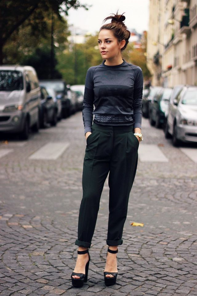 66b4ac4491 AlexanderWang X H&M grey motif dress* | ASOS peg leg trousers* | Missguided black  platforms (similar) I mentioned in my last post that I nipped into the H&M  ...