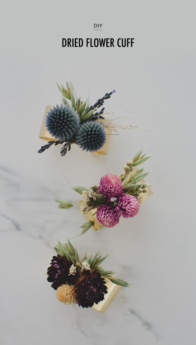 Diy dried flower cuff green wedding shoes bloglovin you may have seen in the last year or so our partnership with afloral a silk flower company and all the fun diys we have shared using their products mightylinksfo