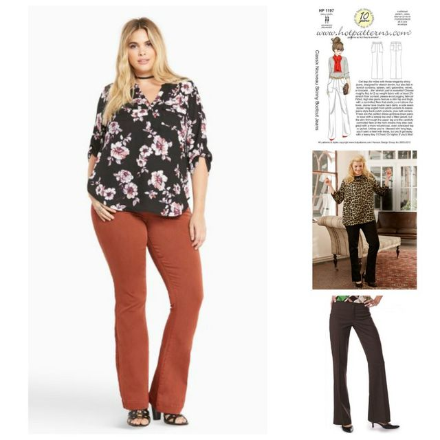 4312c79af4beb Have a go at flares of your own making using Hot Patterns 1197 Classix  Nouveau Skinny Bootcut Jeans, Burdastyle Ankle Flare Pants (Plus Size)  05/2014 #136B, ...