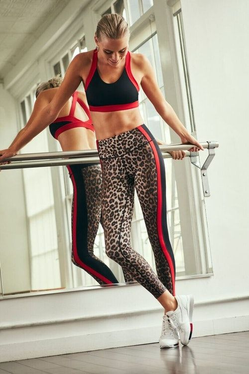 84eeb36d1b The leggings and sports bra are made of an optimal poly-spandex blend  fabric that can stand up to any workout.