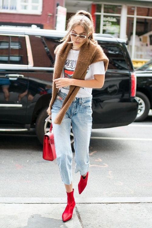 baaca331 Gigi Hadid's Red Boots Are Only $159 & Here's How To Buy Them | The ...