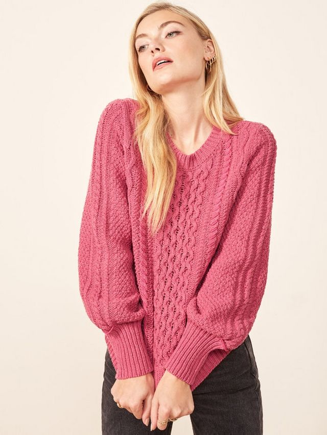 16c16e883b4ff Reformation's La Ligne Collab Has 3 Colorful, Basic Sweaters You'll ...