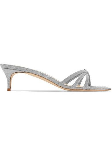 029eea0e7dd0 Libra Glittered Leather Sandals If you just can t wait to slip your toes  into a pair of sparkly shoes
