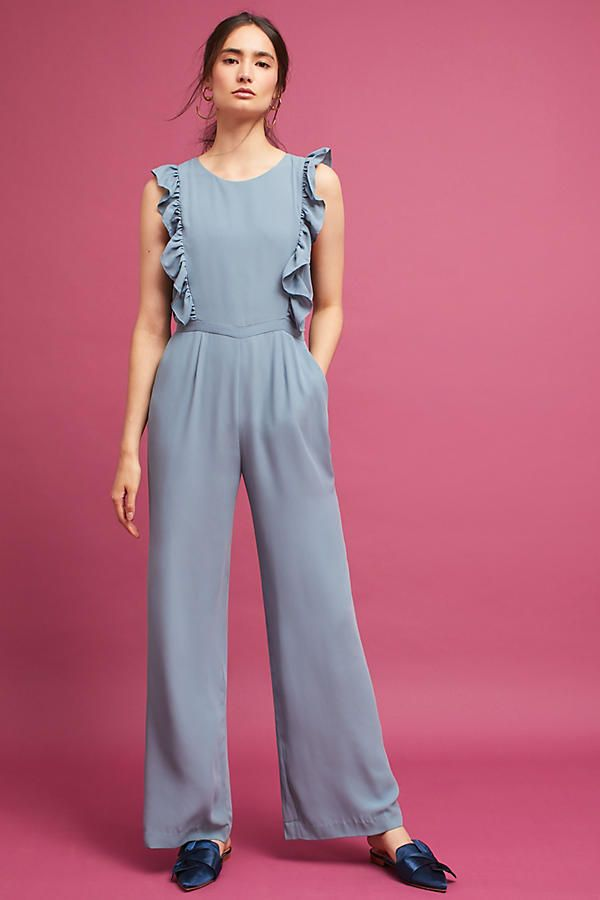 83c1396c29 Jumpsuits are quickly becoming my go-to outfit item. I love this ruffled