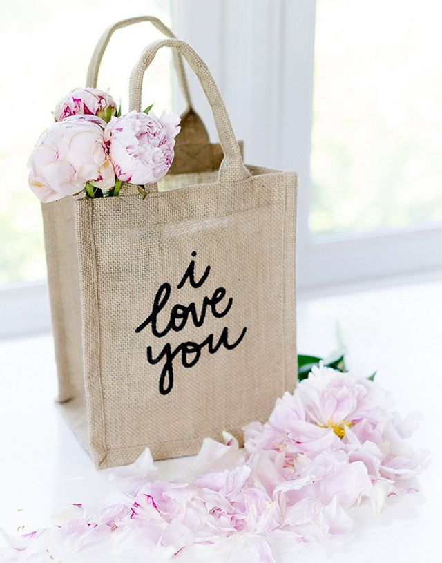 09d93aa5c6 The Little Market Reusable Gift Bag in I Love You