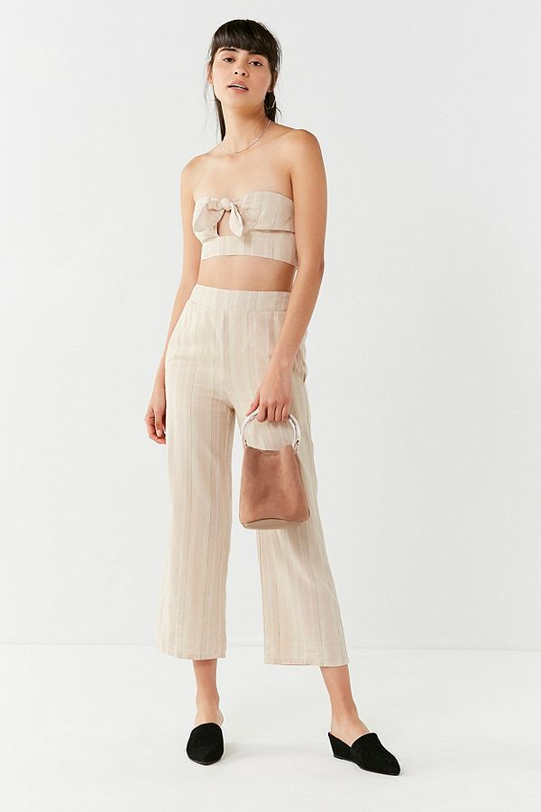 97f661dba8a55 Urban Outfitters Just In Time Tie-Front Tube Top