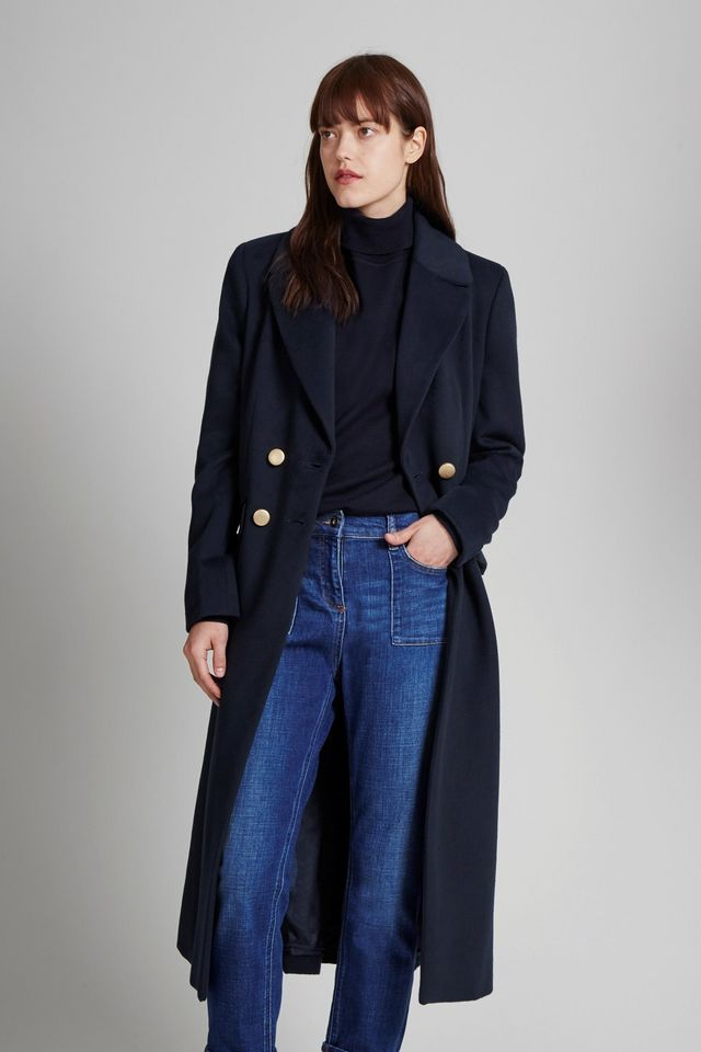 eea48db9 Bergman Double breasted coat from Great Plains in navy was £185 now £74