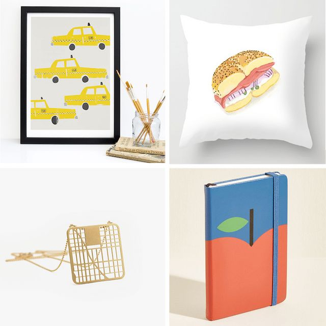 15 New York Themed Gifts That Are So Much Better Than A T Shirt My - Hamburger-scatter-cushions